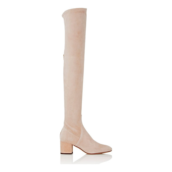 VALENTINO Stretch-suede over-the-knee boots-pink - Valentino's powder rose stretch-suede over-the-knee boots...