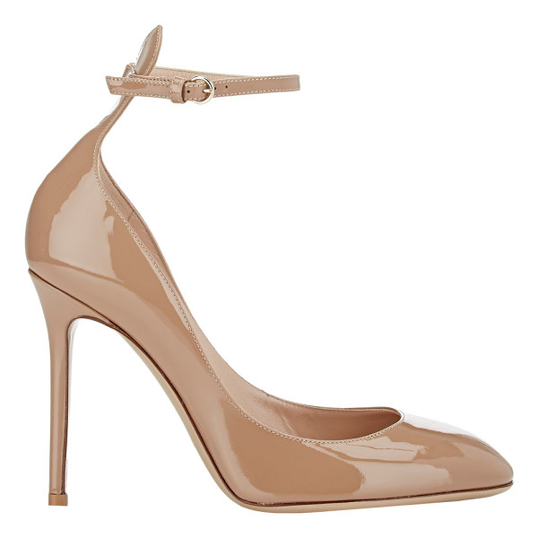 VALENTINO Tango pumps-nude - Valentino Alpaca patent leather Tango pumps styled with...