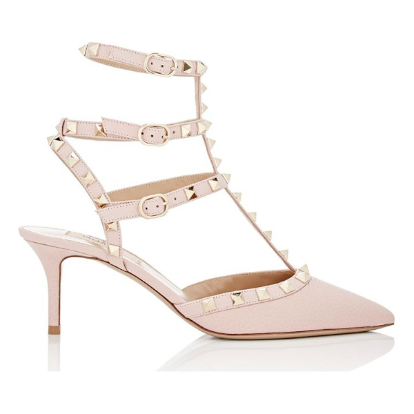 VALENTINO Rockstud caged pumps-light pink - Crafted of Water Rose (pink) grained leather, Valentino's...