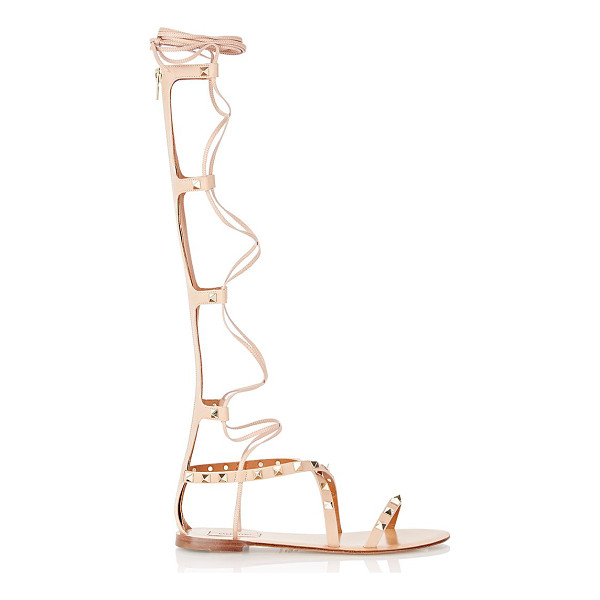 VALENTINO Rockstud gladiator sandals-colorless - Crafted of Skin Sorbet (blush) smooth calfskin, Valentino's...