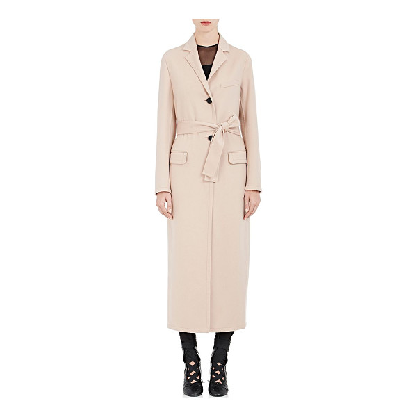 VALENTINO Wool-cashmere belted coat-peach, nude - Valentino's belted coat is cut from dusty peach brushed...