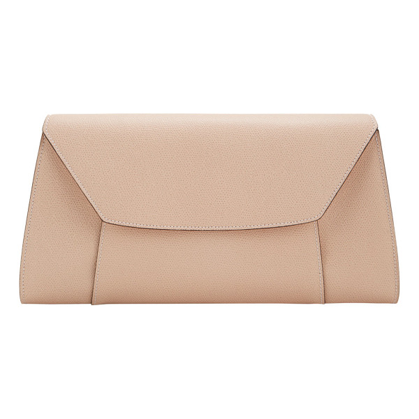 VALEXTRA La scala large clutch-pink - Exclusively Ours! Valextra Cipria (powder pink) grained...