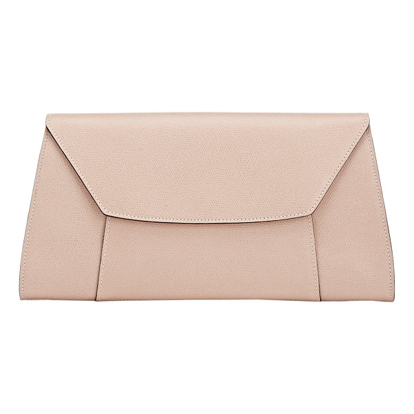 VALEXTRA Handy clutch-pink - Valextra Cipria (powder pink) grained leather Handy clutch....