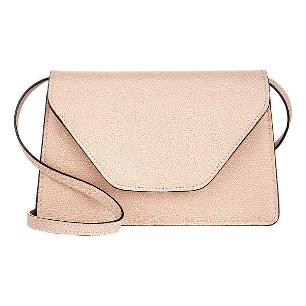 VALEXTRA Isis crossbody-nude - Valextra Cipria (powder pink) grained leather Isis...