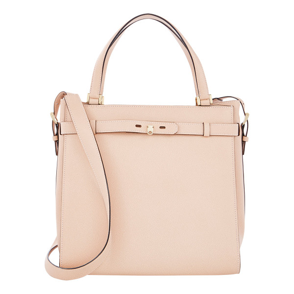 VALEXTRA Large b-cube tote - Valextra Cipria (light pink) textured leather large B-Cube...