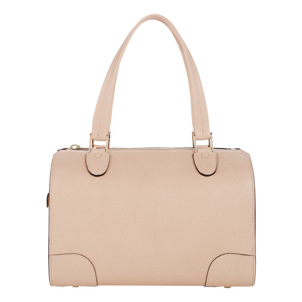 VALEXTRA Medium boston satchel-pink - Valextra Cipria (powder pink) grained leather medium Boston...