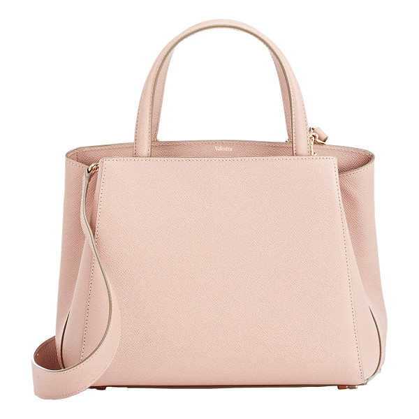VALEXTRA Triennale small satchel-pink - Valextra Orchidea (dusty pink) grained leather Triennale...