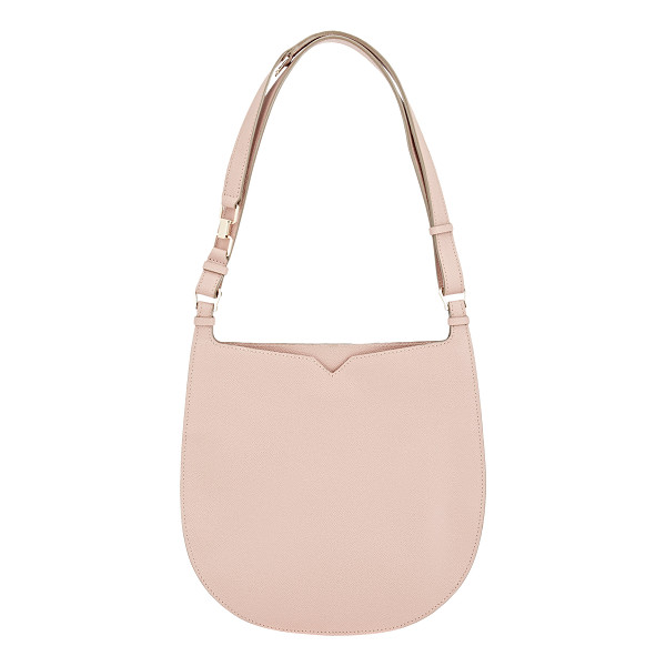VALEXTRA Weekend small hobo-pink - Valextra Orchidea (dusty pink) grained leather Weekend...