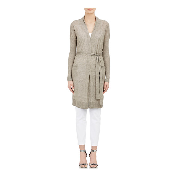 VINCE Belted long cardigan-colorless - Vince.'s Rye (taupe) belted long cardigan is crafted at...