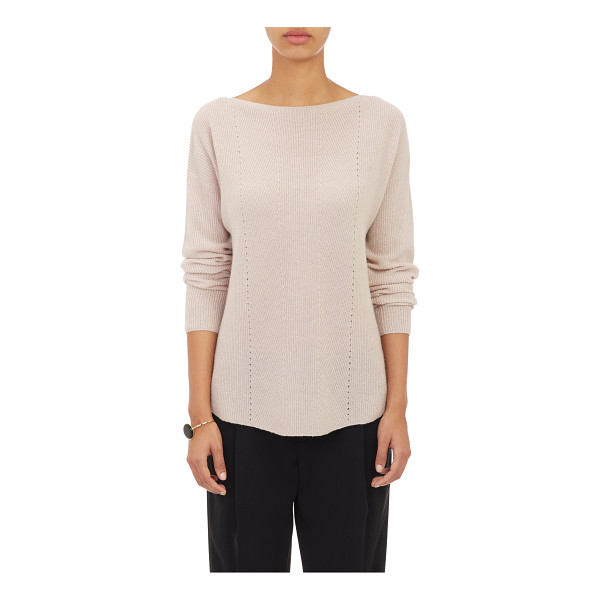 VINCE Ribbed bateau sweater-pink - From Vince.'s Pre-Spring 2015 Collection, a bateau-neck...
