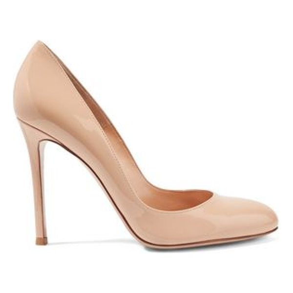 GIANVITO ROSSI patent - Gianvito Rossi beige pumps. Heel measures approximately...