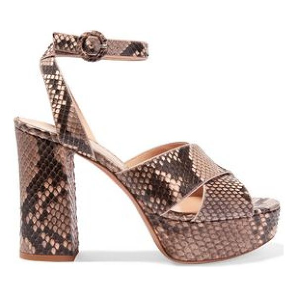 GIANVITO ROSSI python platform sandals - Heel measures approximately 110mm/ 4.5 inches with a 35mm/...