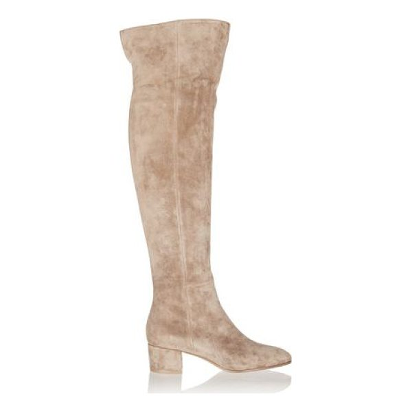 GIANVITO ROSSI suede over-the - Heel measures approximately 45mm/ 2 inches. Sand suede and...