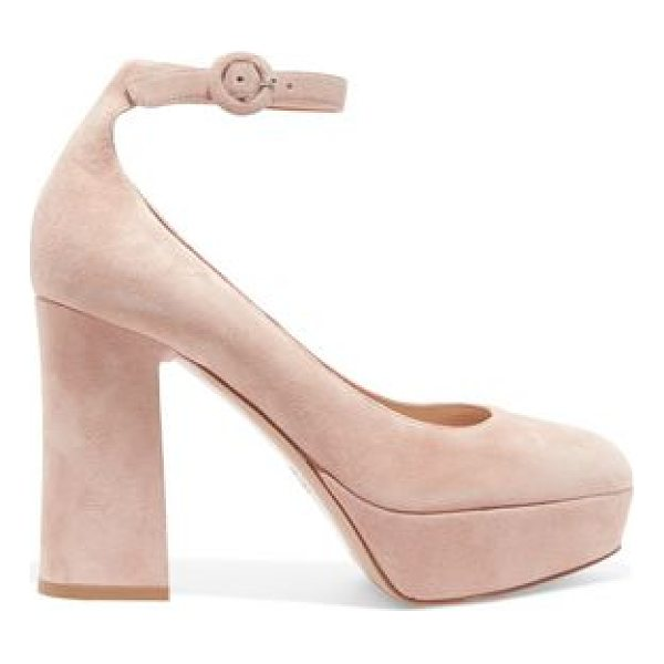 GIANVITO ROSSI suede platform pumps - Heel measures approximately 110mm/ 4.5 inches with a 30mm/...