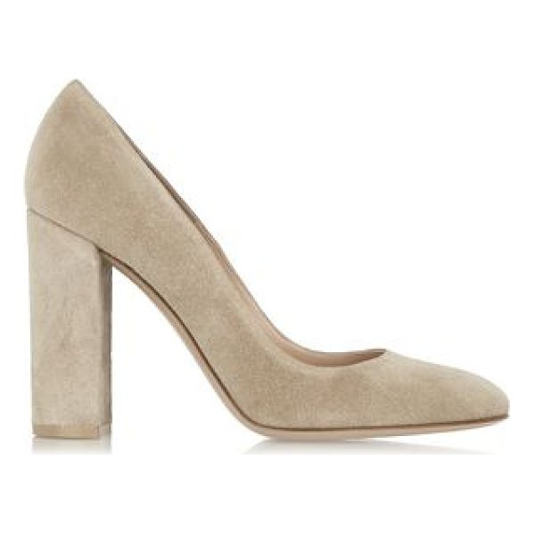 GIANVITO ROSSI Suede Pumps - Heel measures approximately 100mm/ 4 inches . Mushroom