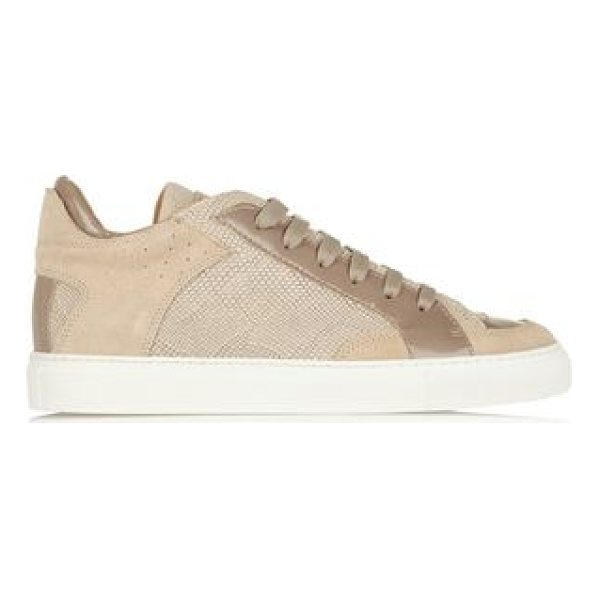 MM6 MAISON MARGIELA patent and lizard - Sole measures approximately 25mm/ 1 inch. Tonal-beige...