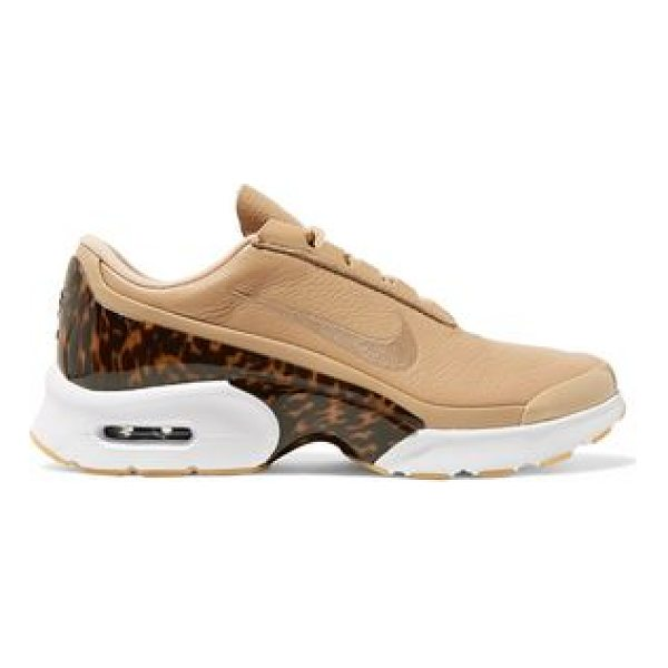 NIKE air max jewell lx leather and tortoiseshell plastic sneakers - Beige leather, tortoiseshell acetate. Lace-up front. Nike...