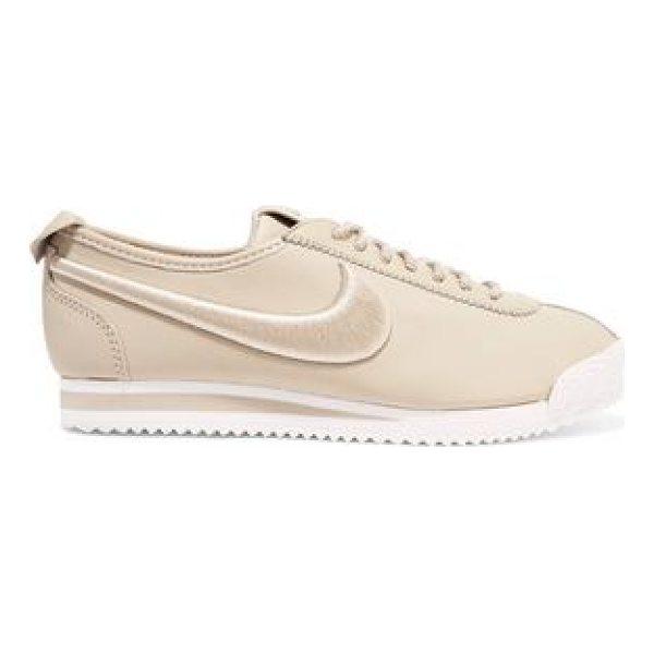 NIKE cortez 72 si embroidered leather sneakers - Sole measures approximately 30mm/ 1 inch. Sand leather....