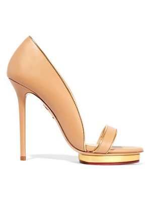 CHARLOTTE OLYMPIA Christine Leather Sandals
