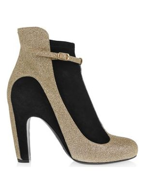 MAISON MARGIELA Glittered Suede Ankle Boots