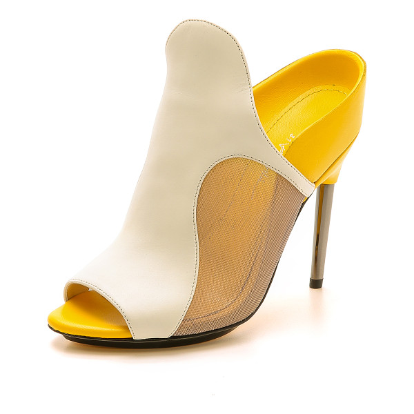 3.1 PHILLIP LIM Aria high heel mules - Bright, sculptural 3.1 Phillip Lim mules make a bold...