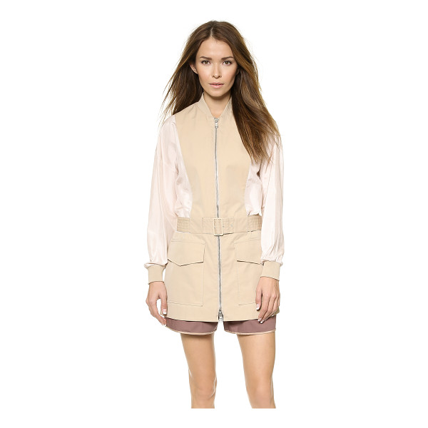 3.1 PHILLIP LIM Belted safari jacket - Sturdy canvas and airy, crinkled silk compose this 3.1...