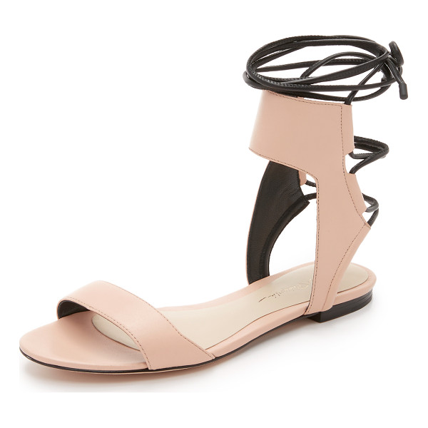 3.1 PHILLIP LIM Martini ankle lace flat sandals - Smooth leather composes these sophisticated 3.1 Phillip Lim...