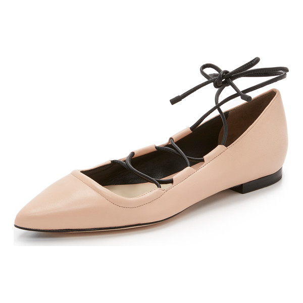 3.1 PHILLIP LIM Martini lace up flats - Pebbled leather 3.1 Phillip Lim flats in a pointed toe