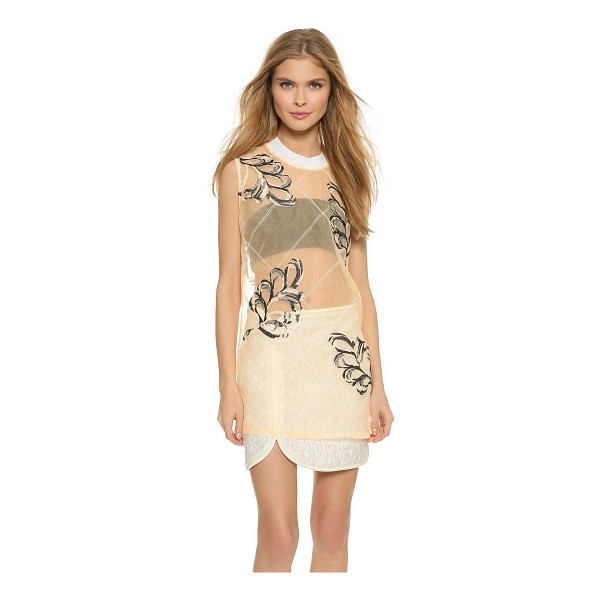 3.1 PHILLIP LIM Organza fern tank - Delicate embroidered vines give this sheer organza 3.1...