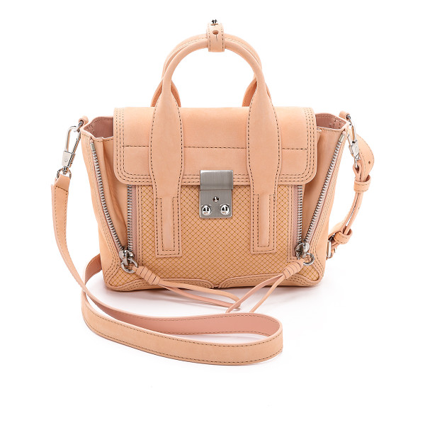3.1 PHILLIP LIM Pashli mini satchel - A tiny, delicate diamond pattern is stitched across the