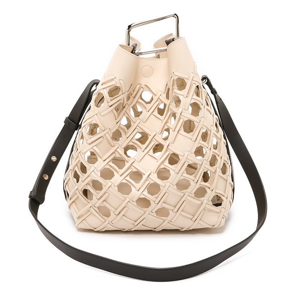 3.1 PHILLIP LIM Quill perforated bucket bag - Honeycomb woven leather detailing updates this chic, two...