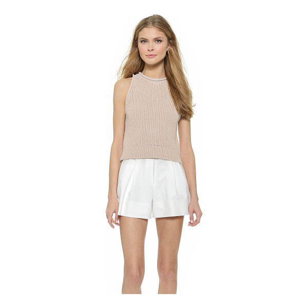 3.1 PHILLIP LIM Ribbed knit crop tank - A cropped, ribbed knit 3.1 Phillip Lim tank with slim...