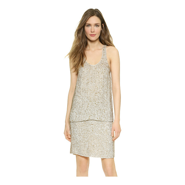 3.1 PHILLIP LIM Sequin racer tank - Shimmering, layered sequins create a striking effect on...