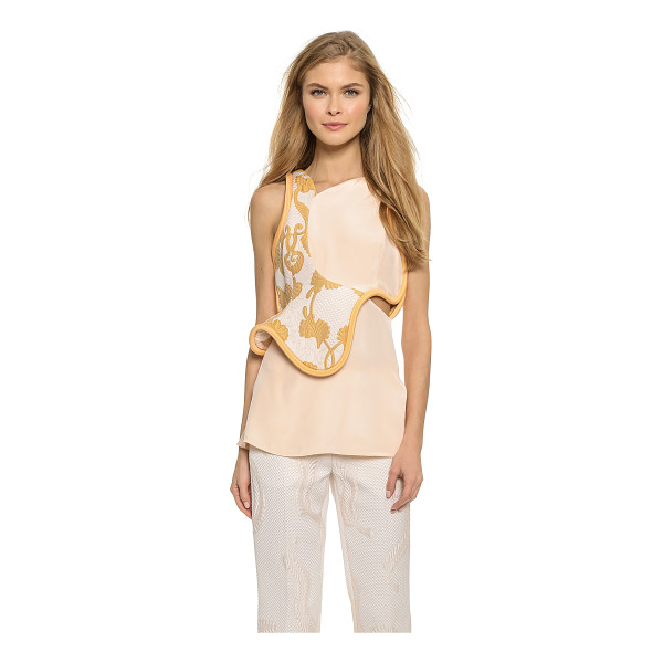 3.1 PHILLIP LIM Side cutout sleeveless top - Thick piping and rich brocade give this elegant 3.1 Phillip...