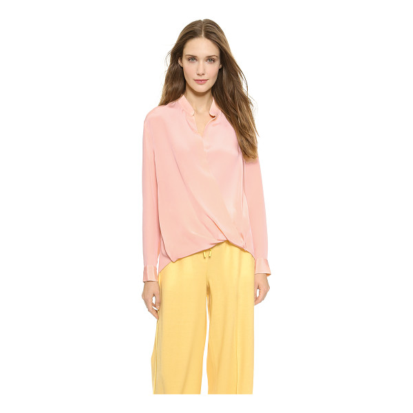 3.1 PHILLIP LIM Silk tuck drape blouse - Rich double silk crepe composes this elegant, breezy 3.1...
