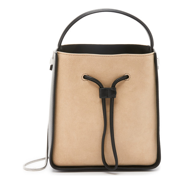 3.1 PHILLIP LIM Soleil small bucket bag - A suede and leather 3.1 Phillip Lim bucket bag, crafted in...