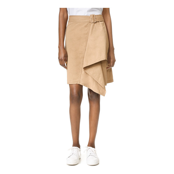 3.1 PHILLIP LIM trench skirt with cascading drape - A draped, cascading panel brings unique asymmetry to this A...