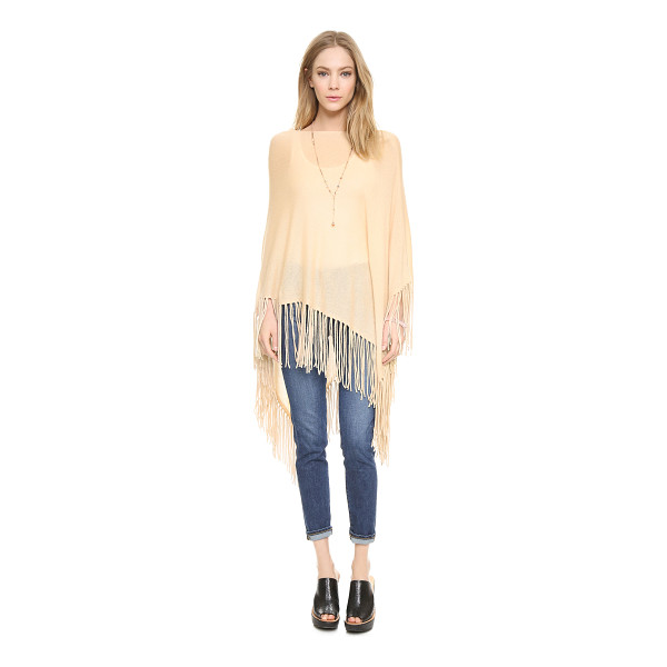 360SWEATER Blanca cashmere poncho - A cashmere 360 SWEATER poncho with an asymmetrical drape....