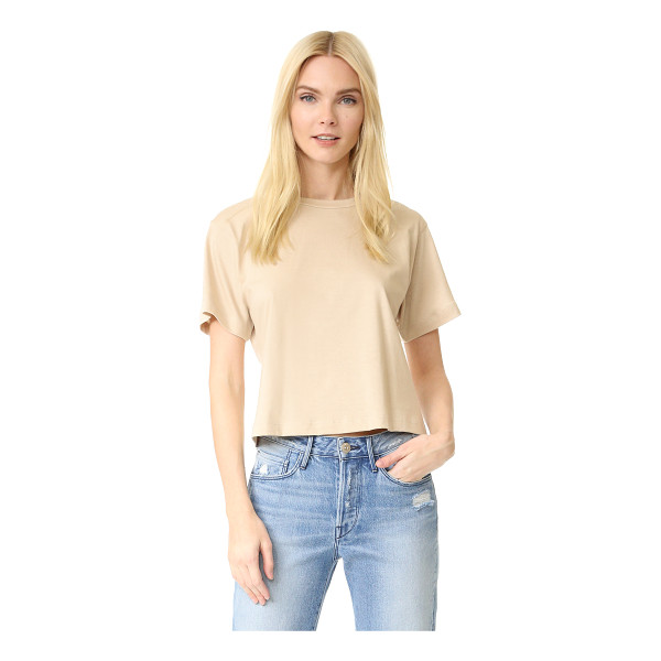 3X1 cropped boyfriend tee - A basic 3x1 tee with a cropped profile. Crew neckline....