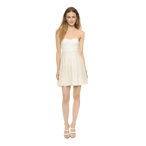 4.COLLECTIVE Strapless pleated dress - A sculpted, strapless bodice brings flirty appeal to this...