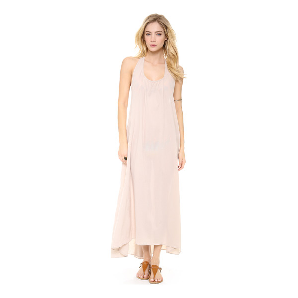 9SEED Biarritz halter maxi cover up dress - Exclusive to Shopbop. A neutral crepe cover up has shoulder...