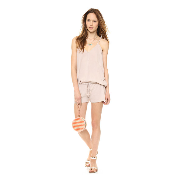 9SEED Corsica cover up romper - A drawstring cinches the loose silhouette of this airy...
