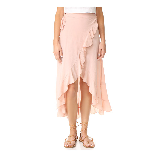 9SEED solana wrap skirt - A casual crepe 9seed cover-up skirt in a wrap profile....
