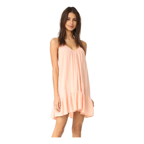 9SEED st tropez ruffle mini dress - A swingy 9seed mini dress with delicate pleats and a deep V