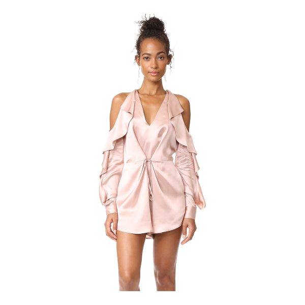 ACLER florence romper - This polished Alcer romper is designed with breezy ruffles...
