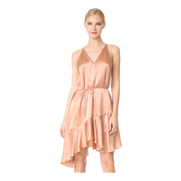 ACLER richie silk dress - A lustrous Acler slip dress with a fluttery handkerchief...