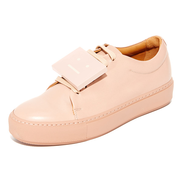 ACNE STUDIOS adriana sneakers - Smooth leather Acne Studios low-top sneakers with a...