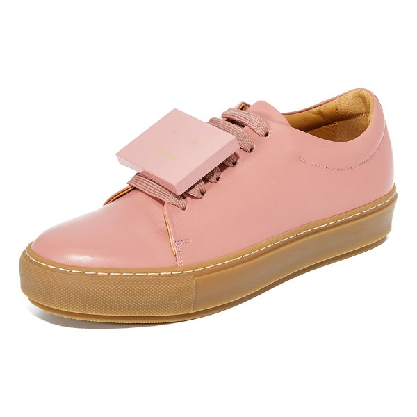 ACNE STUDIOS adriana turnup sneakers - These smooth leather Acne Studios low-top sneakers include...