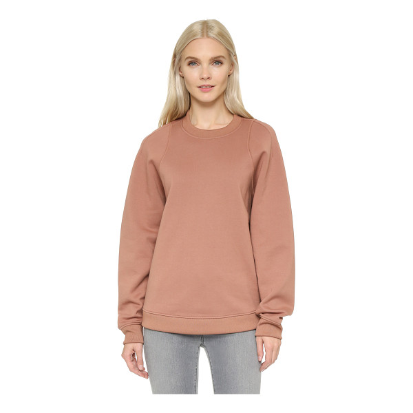 ACNE STUDIOS Albina fleece pullover - An oversized Acne Studios sweatshirt with a tapered...