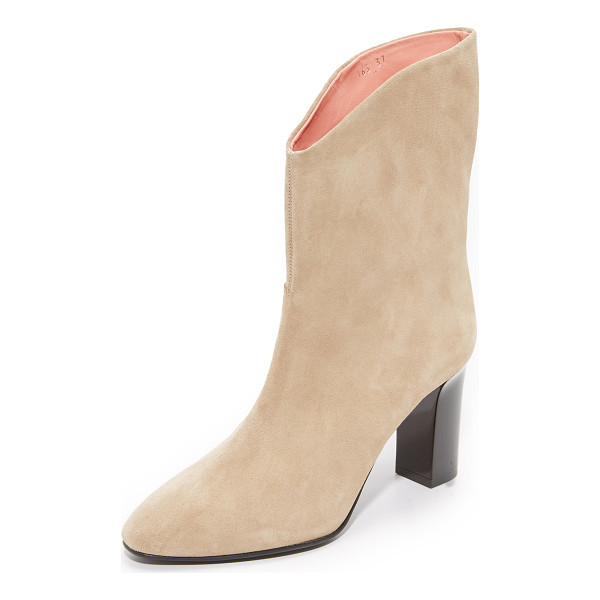 ACNE STUDIOS ava boots - Suede Acne Studios boots styled with a slouchy shaft and a...